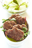 Beef cutlets Stock Image