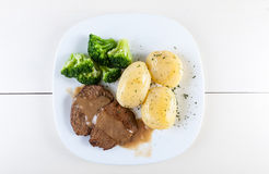 Beef cutlets Stock Images