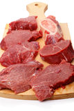 Beef on a cutting board Stock Photos