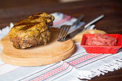 Beef. On the cutting board Stock Image