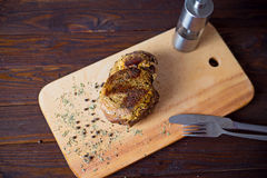 Beef. On the cutting board Royalty Free Stock Photo