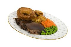 Beef Dinner Isolated Royalty Free Stock Photography