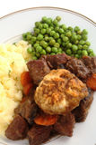 Beef dinner vertical Royalty Free Stock Images
