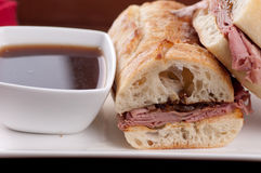 Beef dip or french dip Stock Photography