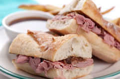 Beef dip or french dip Stock Images