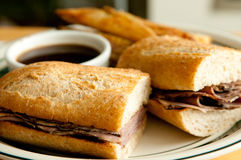 Beef dip sandwich Royalty Free Stock Photos