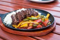 Beef dish closeup Stock Images