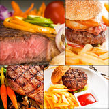 Beef dishes collage Royalty Free Stock Photo