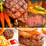 Beef dishes collage Stock Photography