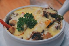 Beef Doria cheese stock images