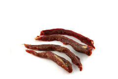 Beef dry. On white background stock photo
