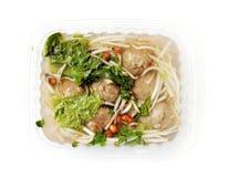 Bakso sup - Beef dumplings soup stock photo