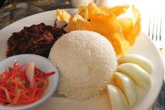 Beef egg rice Stock Photos