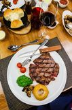Beef entrecote steak Stock Images