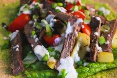 Beef fajita close-up royalty free stock image