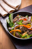 Beef fajita in the pan Royalty Free Stock Photos