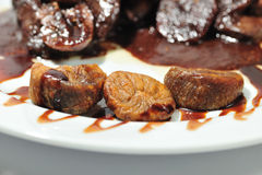 Beef with figs  Stock Photography