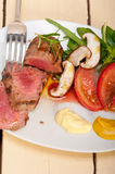 Beef filet mignon grilled with vegetables Royalty Free Stock Photo