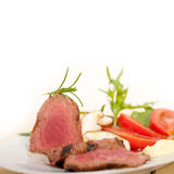 Beef filet mignon grilled with vegetables Royalty Free Stock Photography
