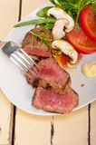 Beef filet mignon grilled with vegetables Royalty Free Stock Images
