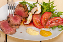 Beef filet mignon grilled with vegetables Royalty Free Stock Photos
