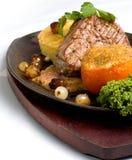 Beef Fillet. Gourmet Beef Fillet with Garlic Gratine Stock Images