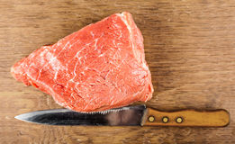 Beef fillet with a knife Royalty Free Stock Images
