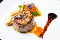 Beef fillet with potato Stock Photo