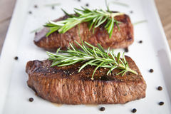 Beef fillet with rosemary Stock Photo