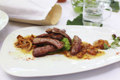 Beef Fillet Tagliata With Wild Mushrooms Royalty Free Stock Images