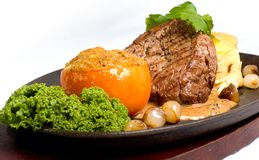 Beef Fillet with vegetables Royalty Free Stock Photography
