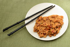 Beef fried rice Royalty Free Stock Photos