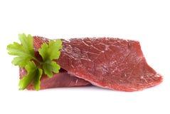 Beef frying steak - isolated Stock Photo