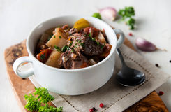 Beef and Golden Beets Stew Royalty Free Stock Photos