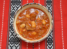 Beef Goulash with beans Stock Photography