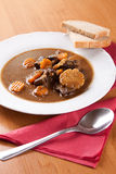 Beef goulash with fresh sliced mushrooms Stock Photography
