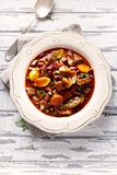 Beef Goulash with Kidney Beans Royalty Free Stock Photography