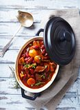 Beef goulash with mushrooms and vegetables Stock Photos