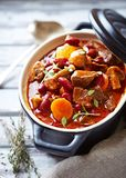 Beef goulash with mushrooms and vegetables Royalty Free Stock Photography