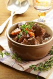 Beef goulash (stew)  with vegetables and herbs Royalty Free Stock Photography
