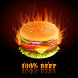 Beef Hamburger Background Stock Photo