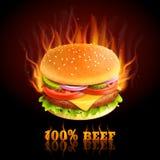 Beef Hamburger Background Stock Photo