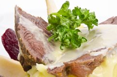 Beef with horseradish sauce Stock Images