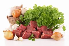 Beef and ingredient Stock Photo