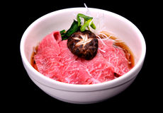 Beef Japanese noodle name niku soba or niku udon Royalty Free Stock Photography