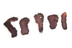 Beef jerky Royalty Free Stock Photo