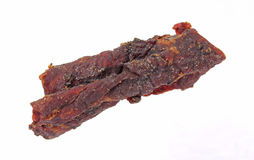 Beef Jerky at an Angle Stock Photo