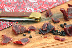 Beef Jerky Royalty Free Stock Photography