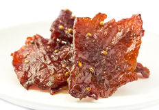 Beef jerky pieces Stock Photo