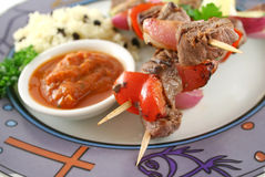 Beef Kabobs Stock Images